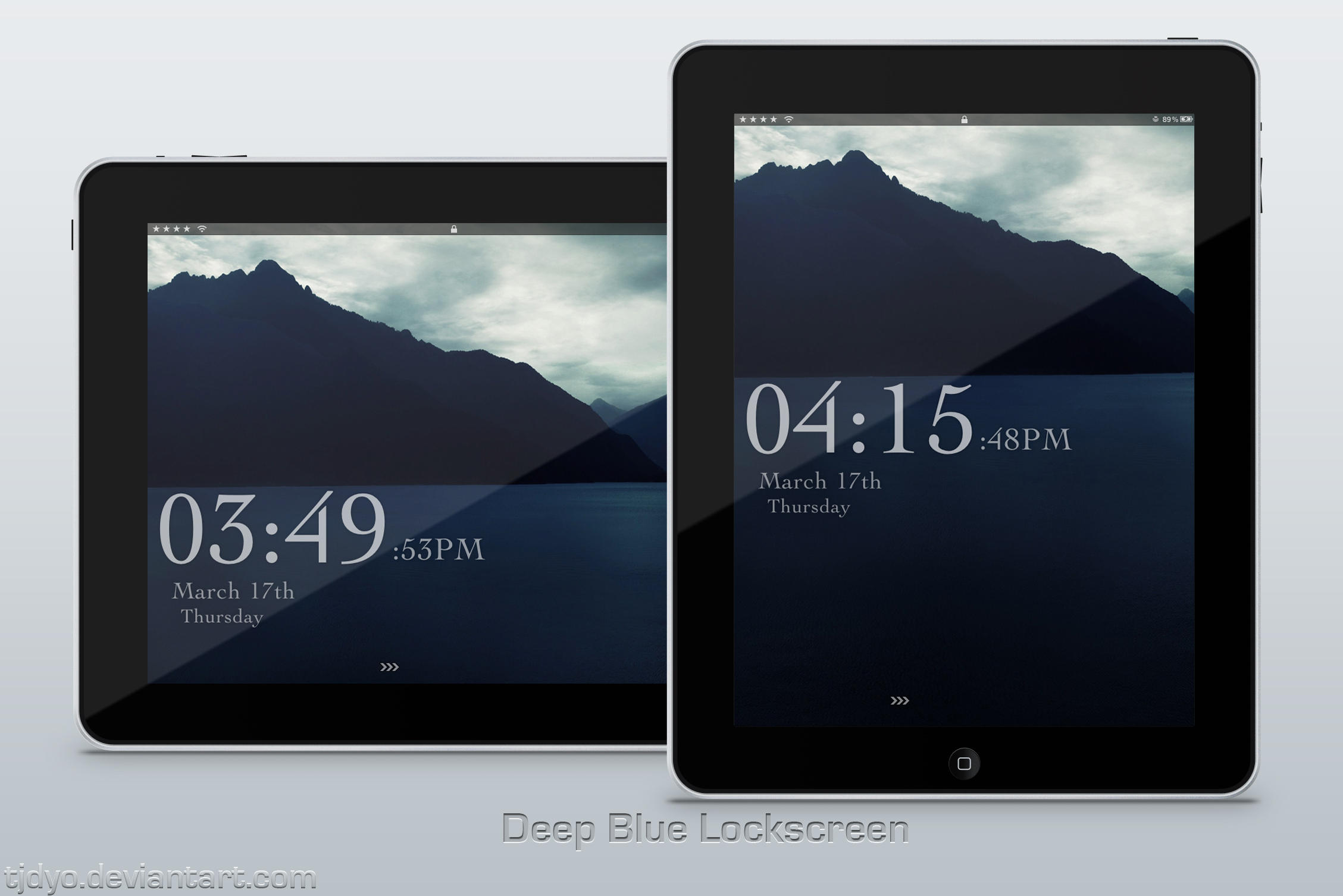 Deep Blue Lockscreen by Tjdyo