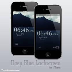 Deep Blue iPhone Lockscreen
