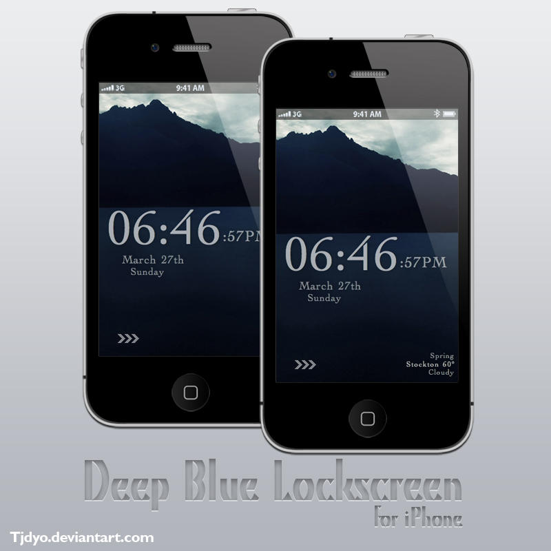 Deep Blue iPhone Lockscreen by Tjdyo