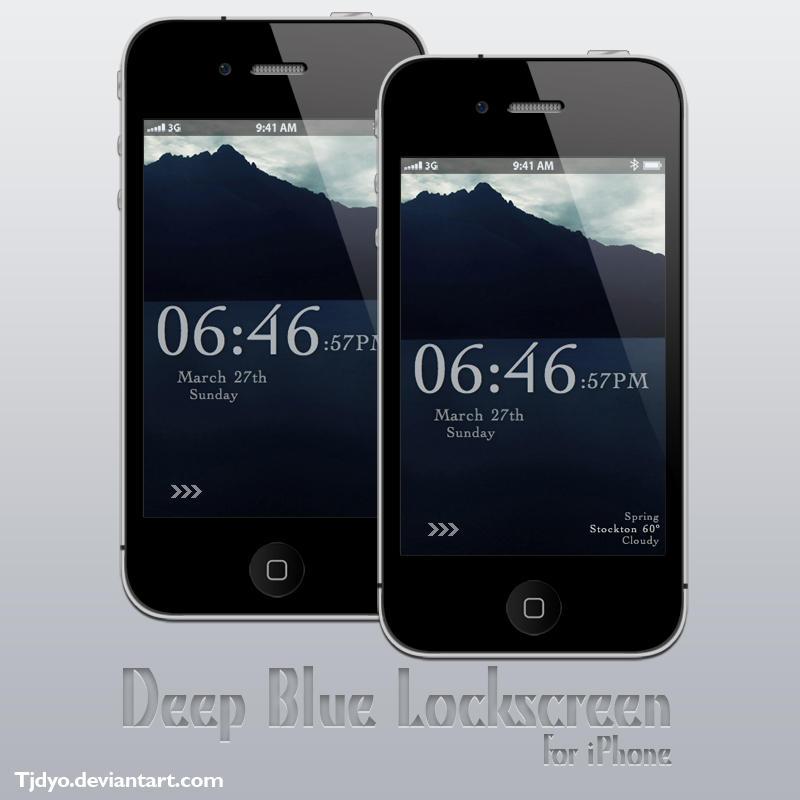 Deep Blue iPhone Lockscreen by Tjdyo