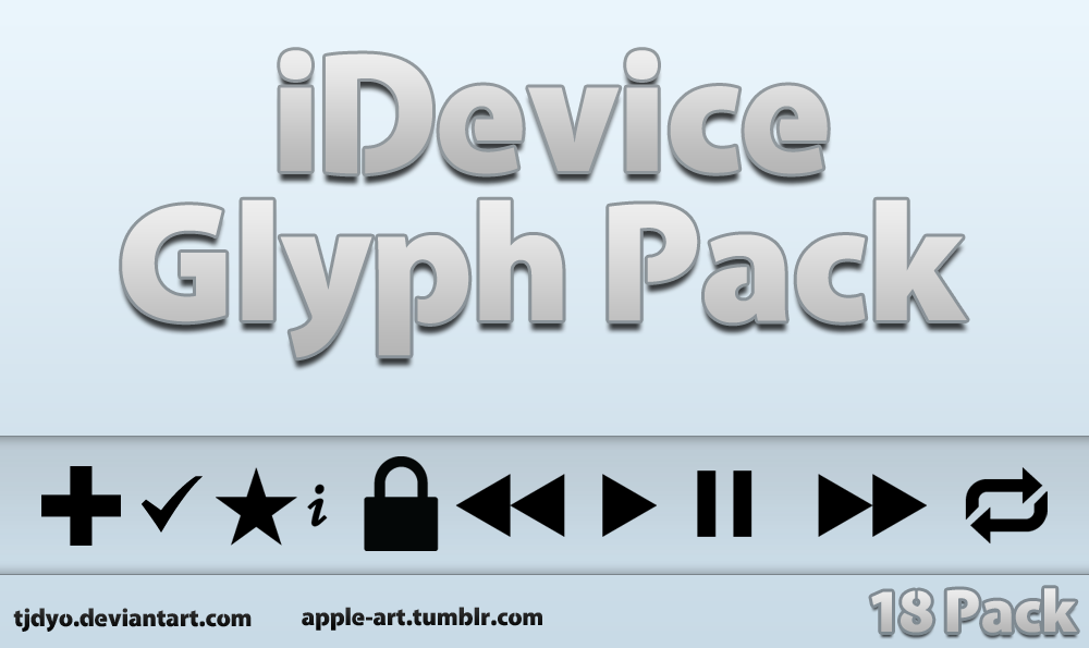 iDevice Glyph Pack by Tjdyo