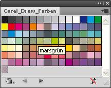 Corel Draw AI Farbpalette