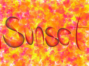 Sunset Splatter