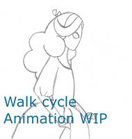Pink's walk cycle WIP by death-g-reaper