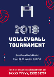 Volleyball Tournament Poster by HEXcube
