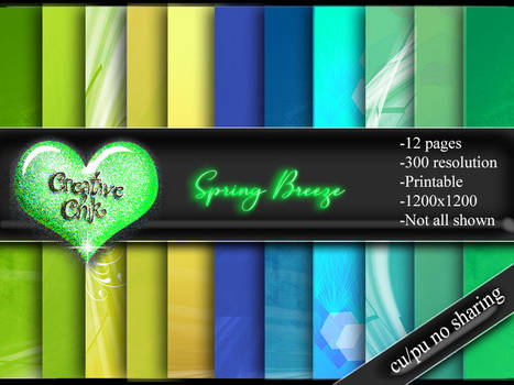 Digital Paper Pack-Spring Breeze