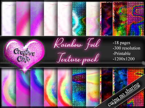 Premium Pack-Rainbow Foil Digital Paper Pack
