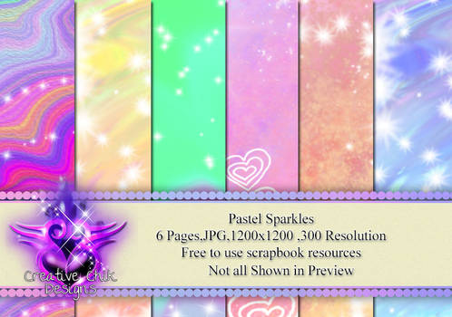 Ccd-pastel Sparkles Paperpack