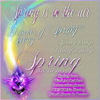 Spring Fever PSD Wordart