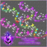 Sparkly butterfly trails PNG Pack