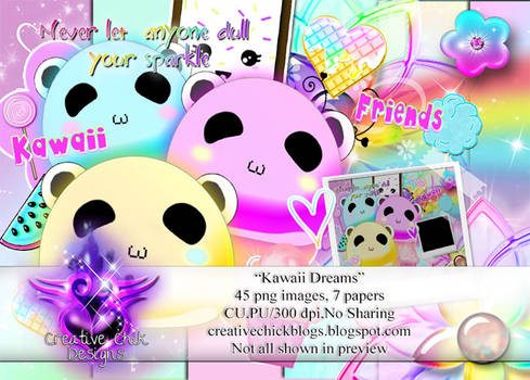 NEW!!! Kawaii Dreams PNG Pack-For Sale!