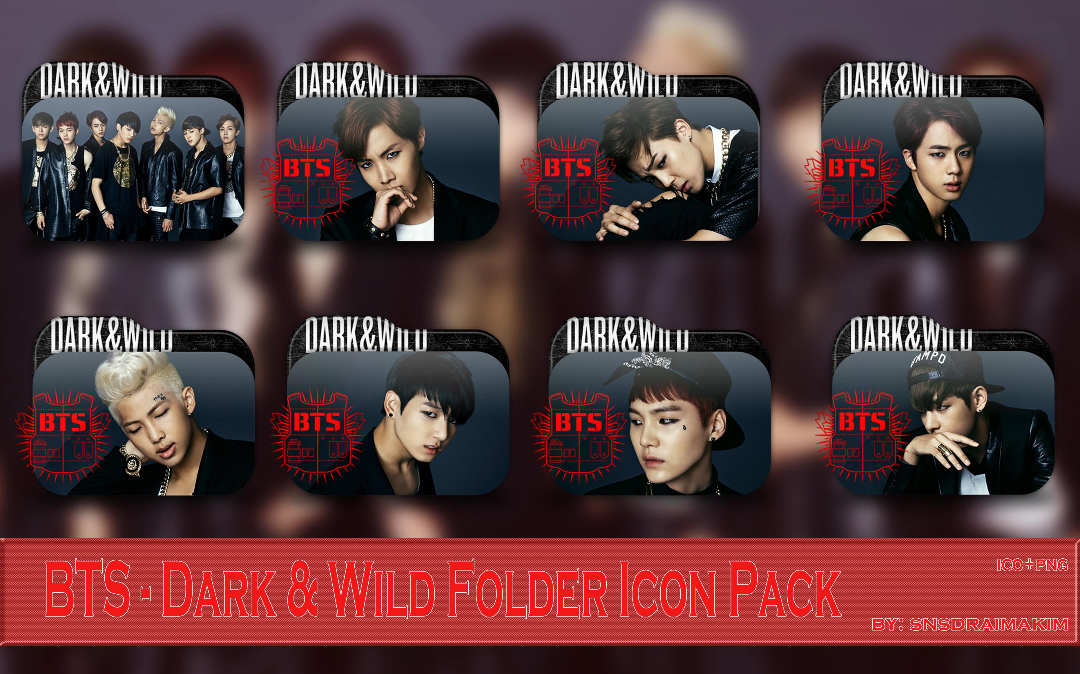 Bts Dark And Wild Folder Icon Pack By Snsdraimakim On Deviantart