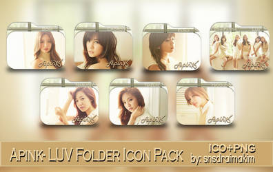 Apink-LUV Folder Icon Pack by SNSDraimakim