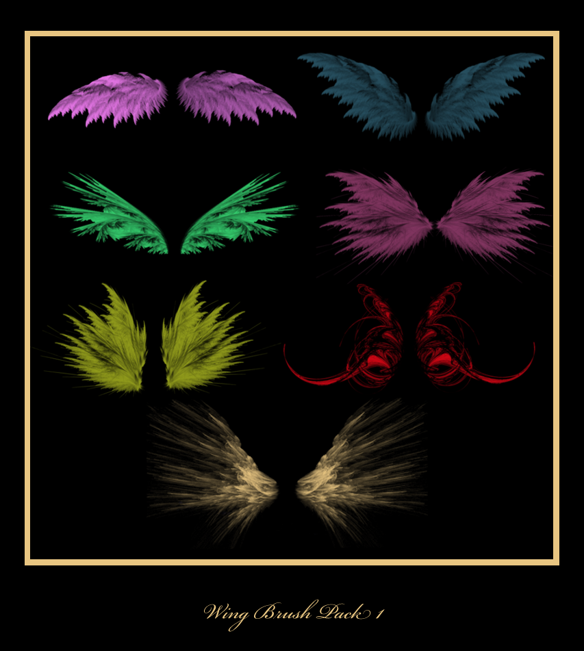 Wing Brush Pack 1 by Sylverkitti
