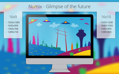 Numix - Glimpse of the Future - Wallpaper