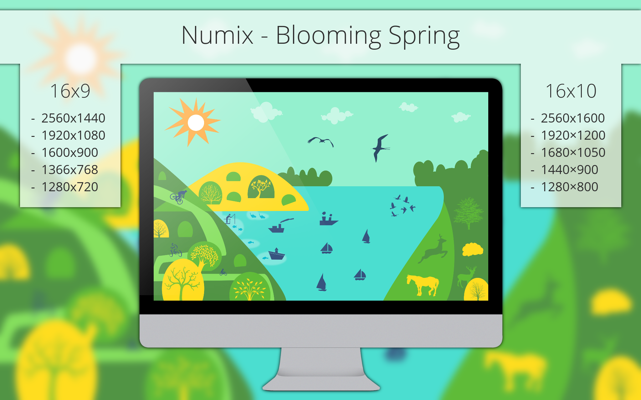 Numix - Blooming Spring - Wallpaper by me4oslav