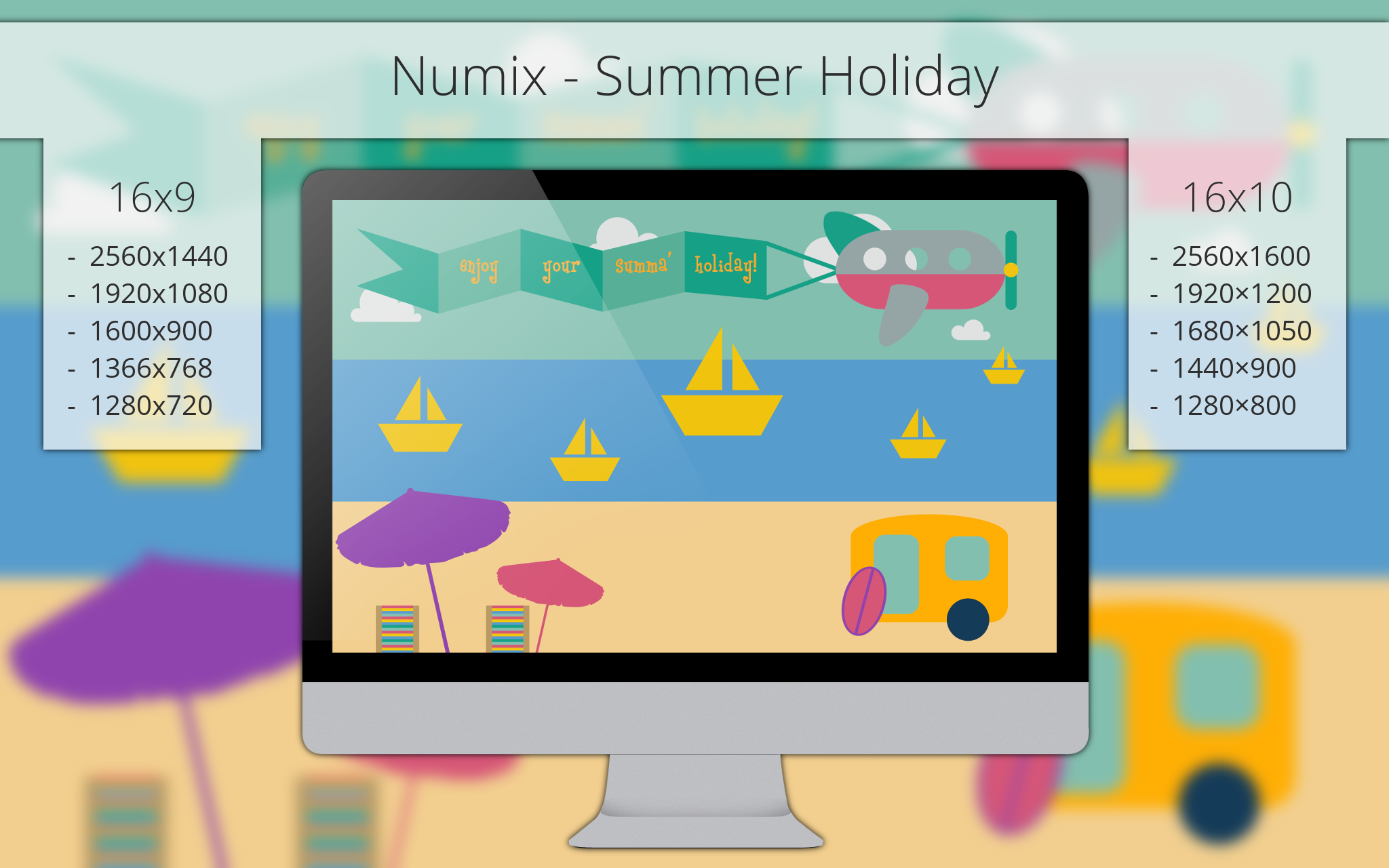 Numix - Summer Holiday - Wallpaper