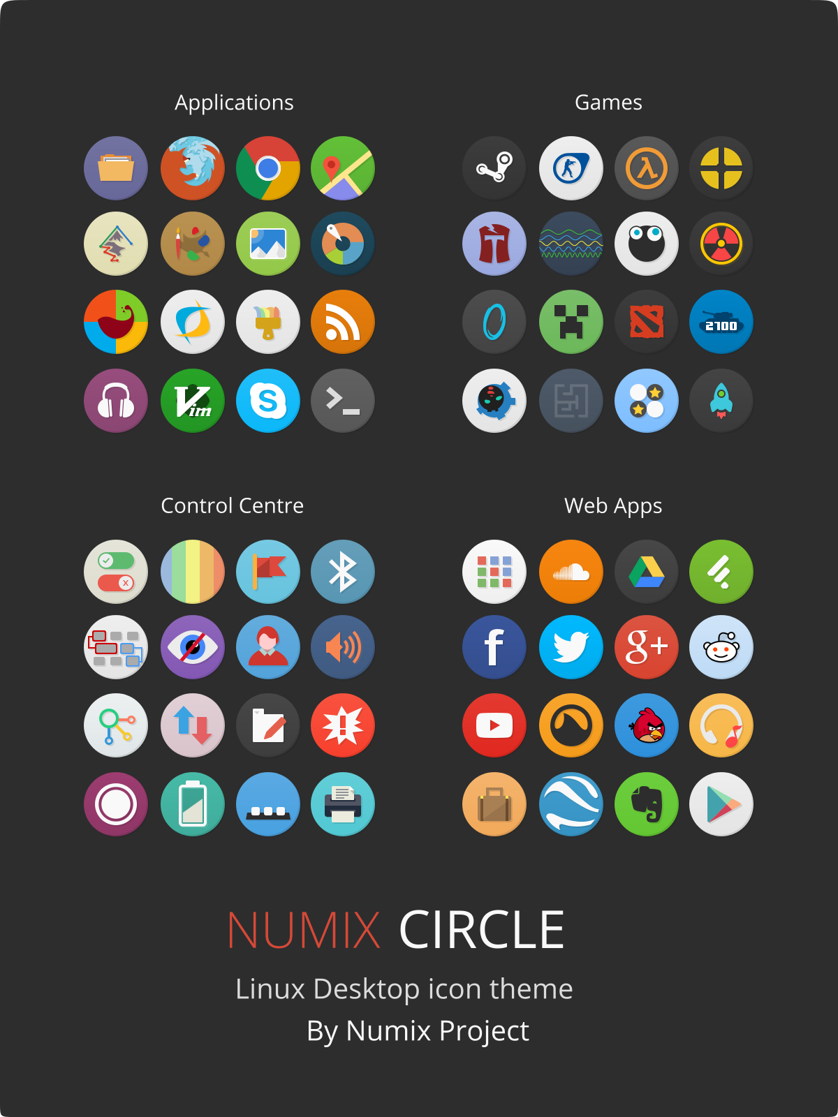 Numix-Circle Linux Desktop Icon Theme