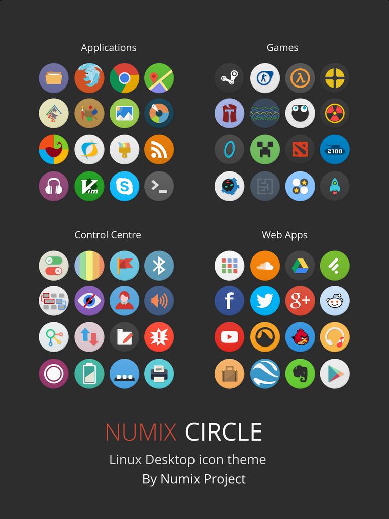 Numix-Circle Linux Desktop Icon Theme