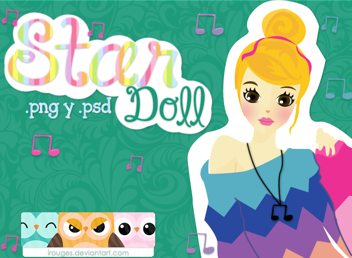 Star Doll .PSD by iRouges