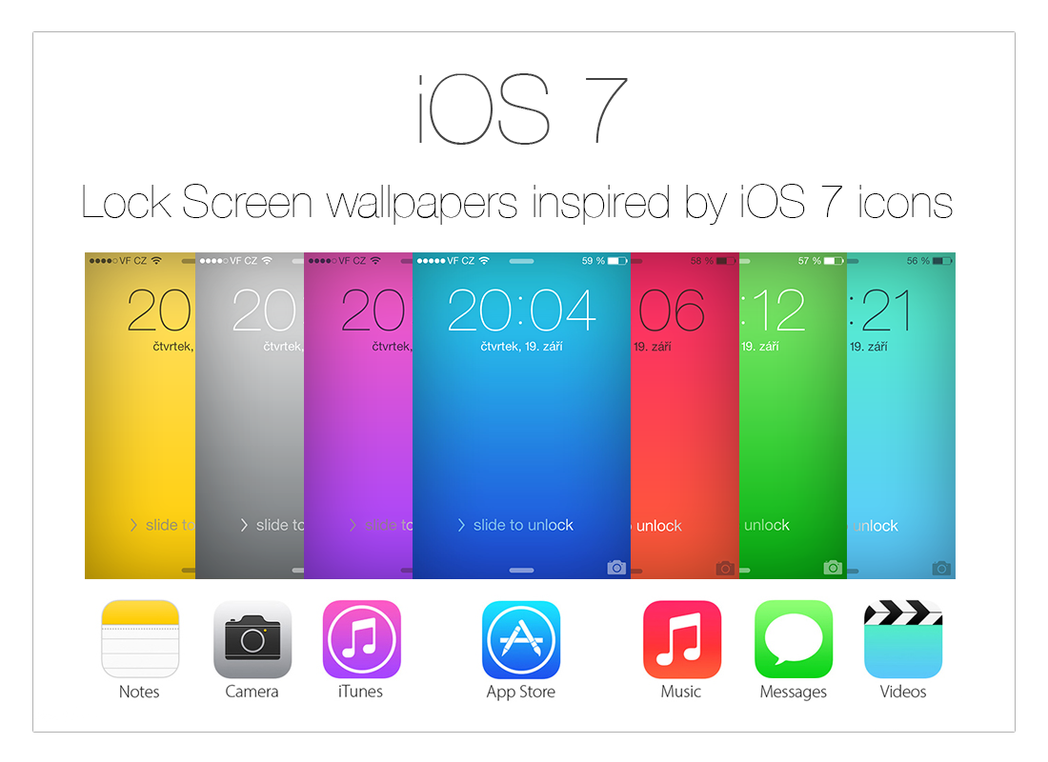 Ios7 Wallpaper: IOS 7 Wallpapers Inspired By Icons By Kamen911 On DeviantArt