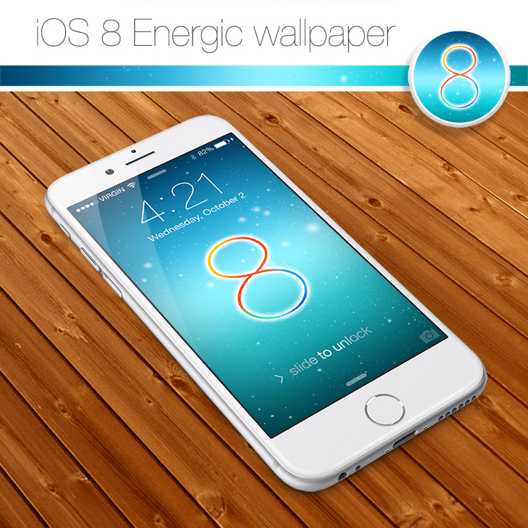 iOS 8 Energic Wallpaper by kamen911