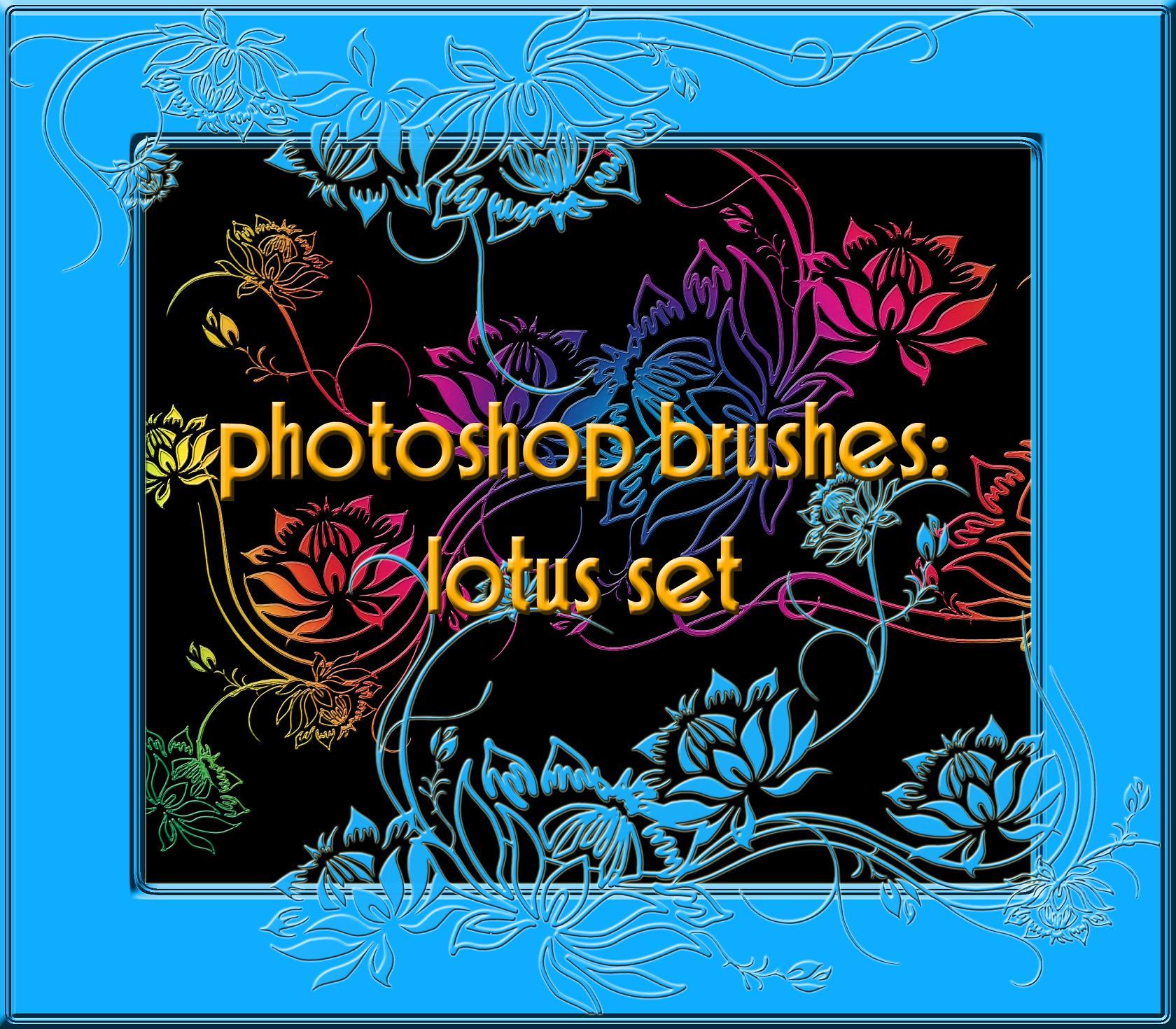 photoshop brushes: lotus set