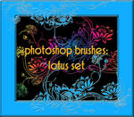photoshop brushes: lotus set