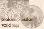 photoshop brushes: world maps