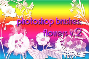 photoshop brushes: flowers v2 by gutterlily10