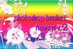 photoshop brushes: flowers v2
