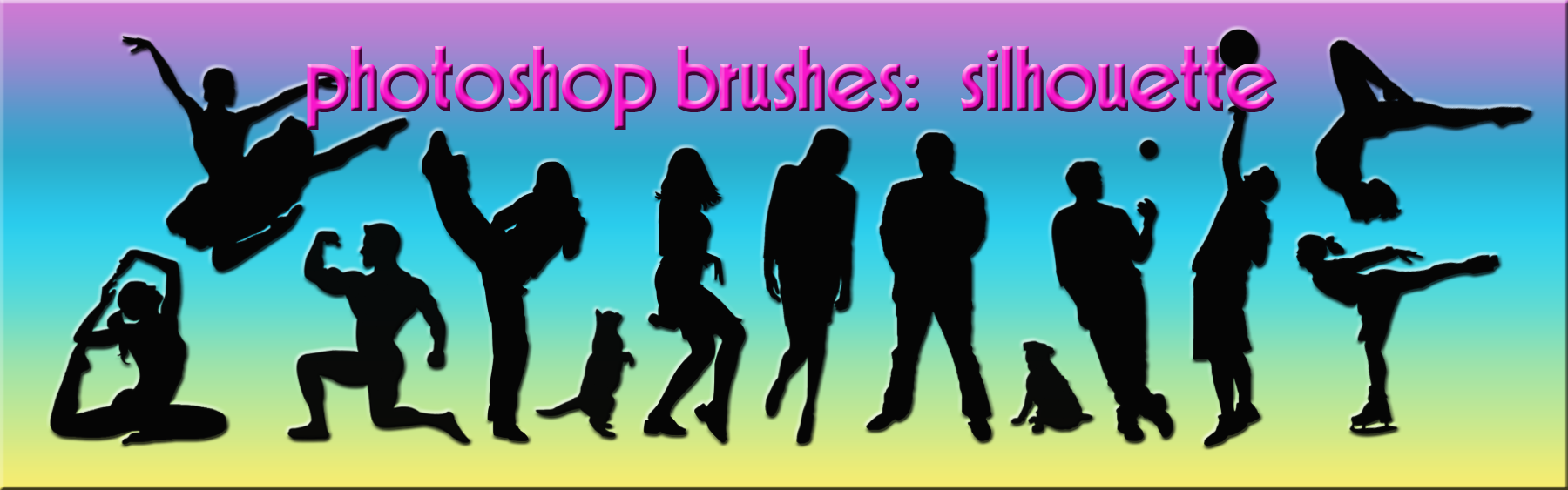 photoshop brushes: silhouette