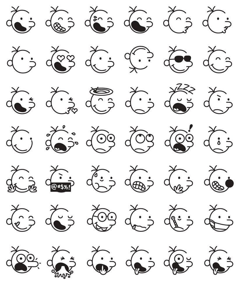Diary of a Wimpy Kid Improved Emojis Wave 1 by sugarbee908 on DeviantArt