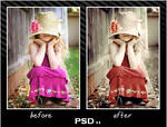 coloring PSD