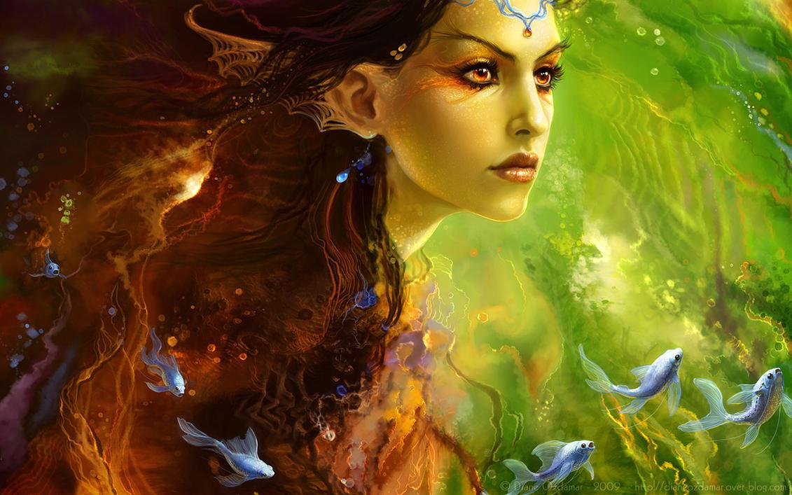 5. Best Wallpaper Digital Painting | Woman Portrait