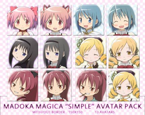 Madoka Magica Simple Avatar Pack