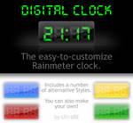 Digital Rainmeter Clock