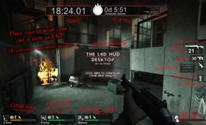 The Left 4 Dead HUD Desktop by UltraBE