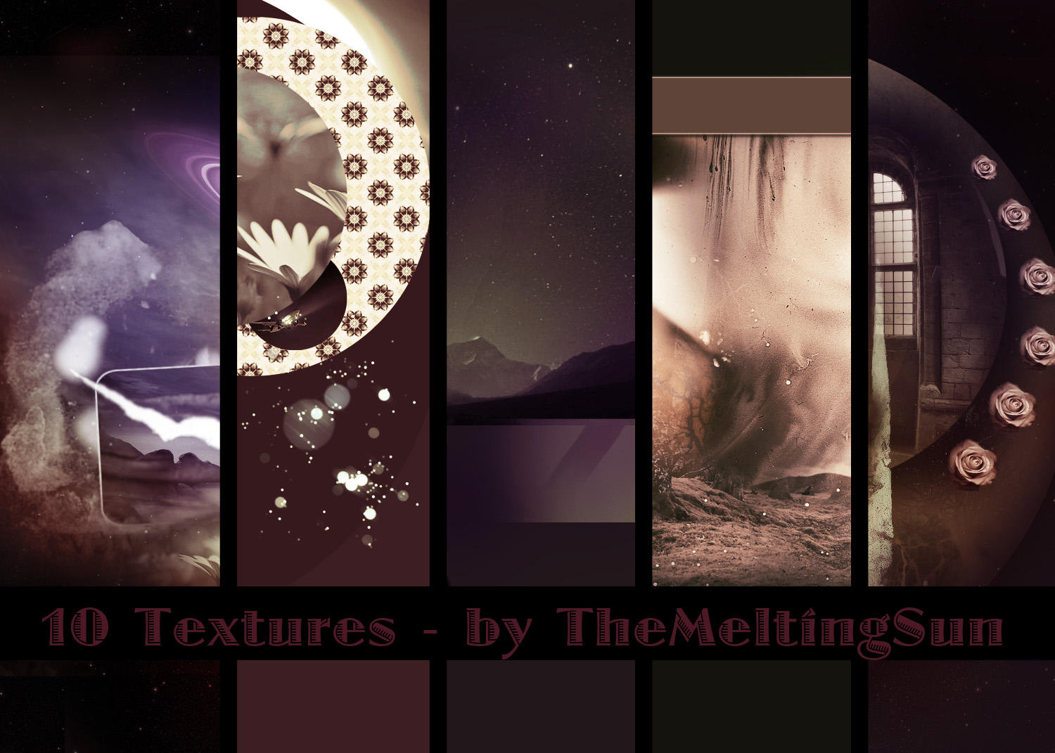 10 Textures by TheMeltingSun