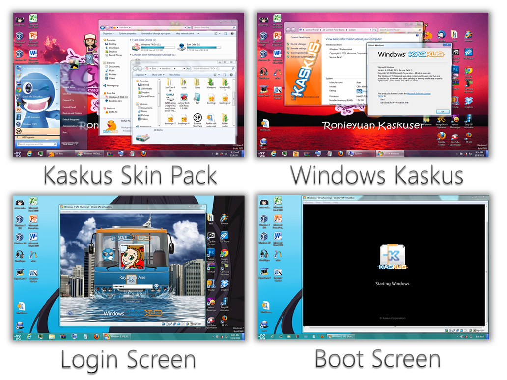 Kaskus Skin Pack for Win7 and XP