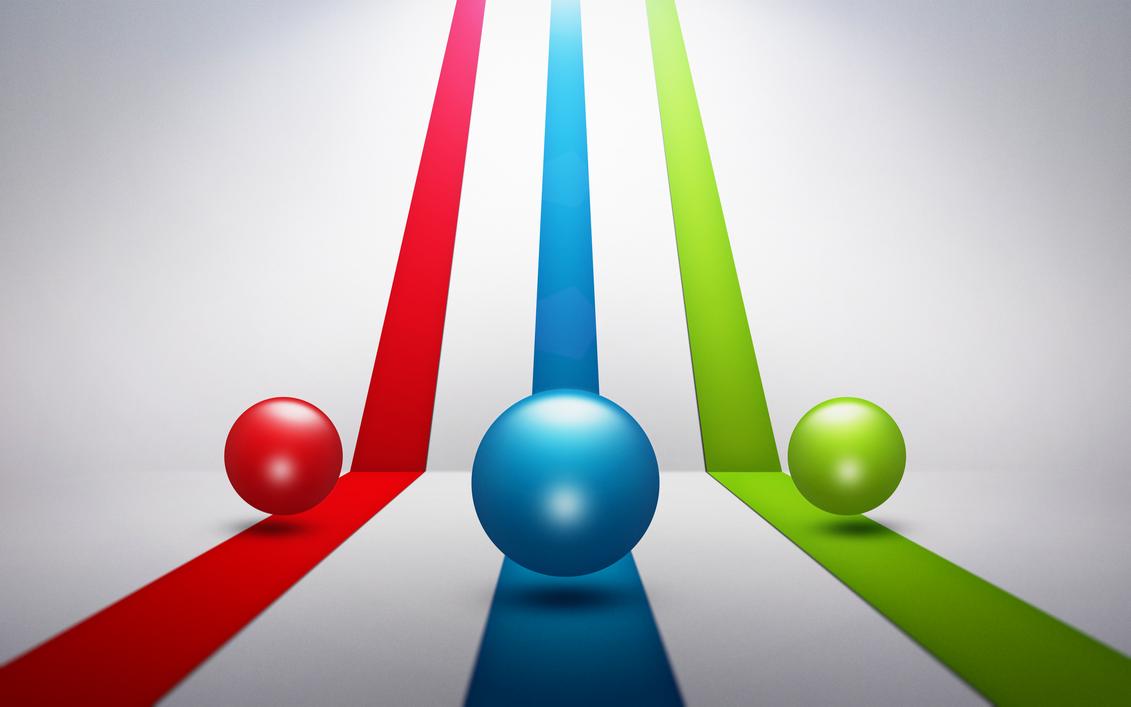 3D RGB Balls Wallpaper (+FREE PSD File) by HAZARDOS