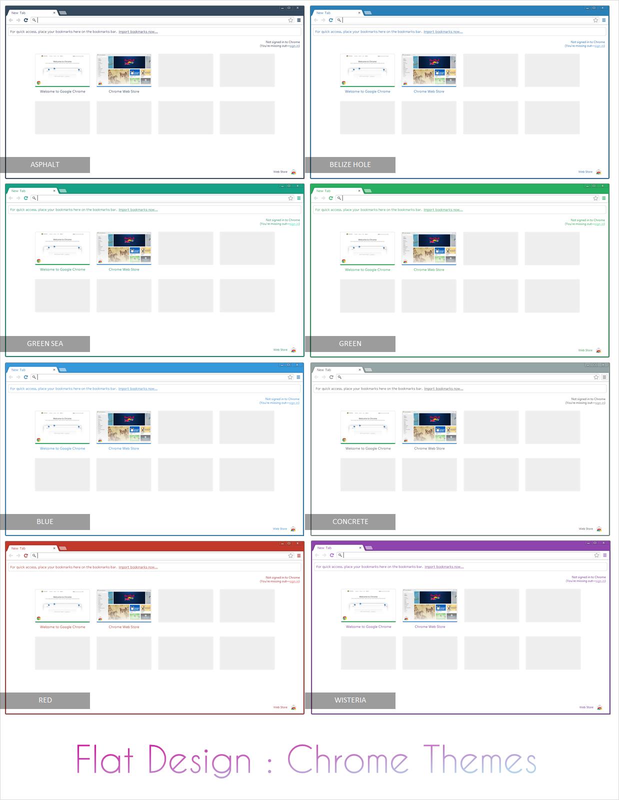 Flat Design Google Chrome Themes By F79h On DeviantArt