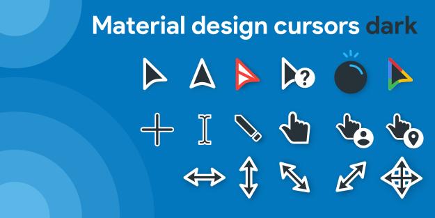 Material Design Cursors Dark