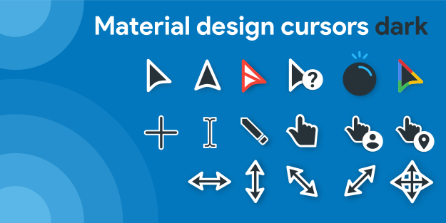 Material Design Cursors Dark by rosea92