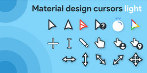Material Design Cursors Light
