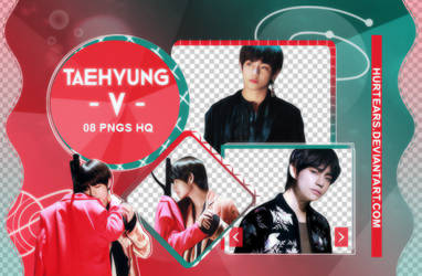 PNG PACK: V (TAEHYUNG) #01 by hurtears