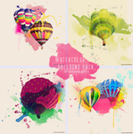 Watercolor Balloons Texture Pack