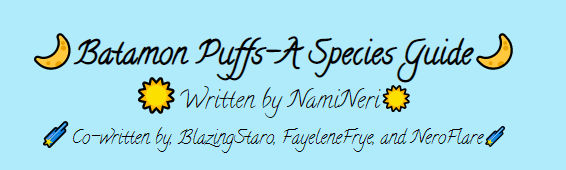 Batamon Puffs-A Species Guide