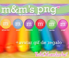 m and m's de colores *-*