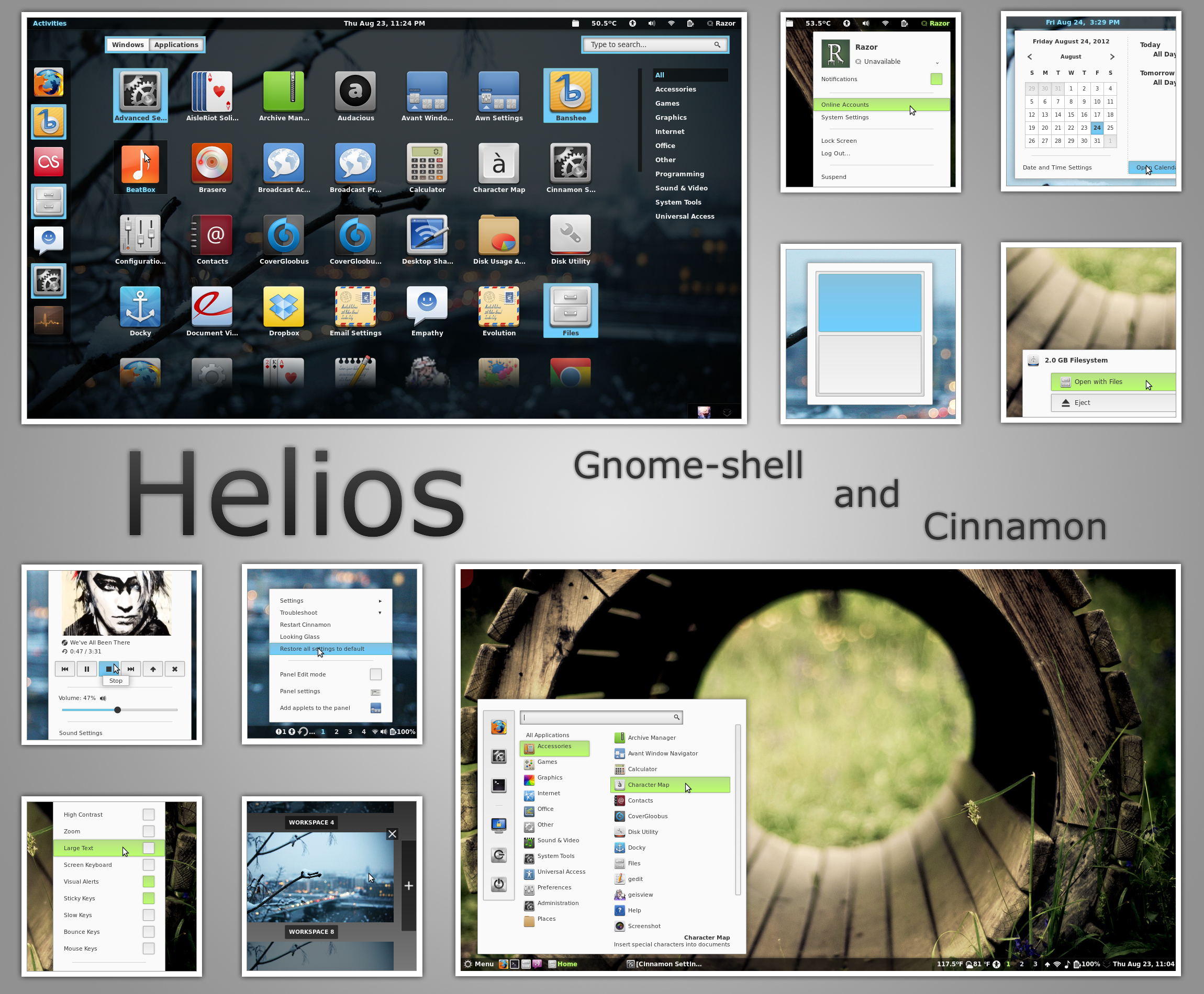 Helios - Gnome shell and Cinnamon